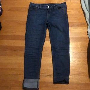 WHBM The Slim Crop Jeans Size 4